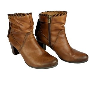 Pikolinos Aged Brown Leather Tassel Bootie…